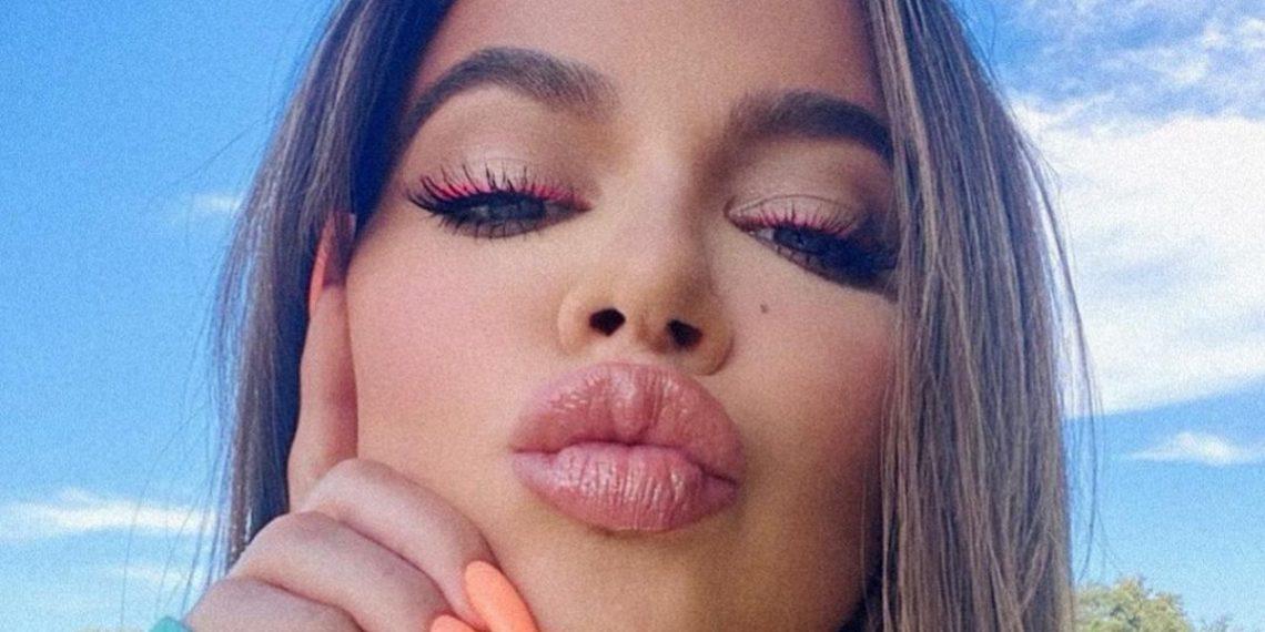 La foto de Khloé Kardashian al natural que ella está intentando desaparecer