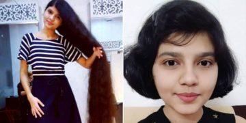 joven Rapunzel se corta el cabello