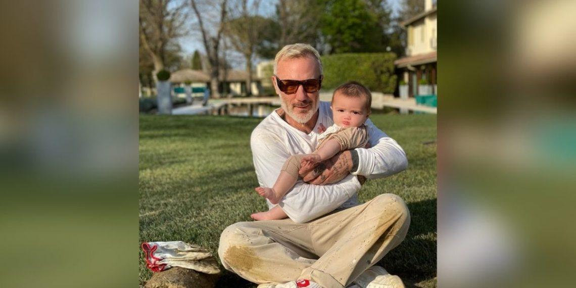 Gianluca Vacchi y su hija